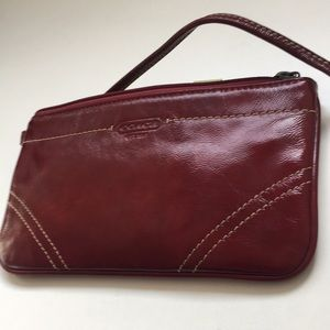 Coach wristlet luxe quality leather new
